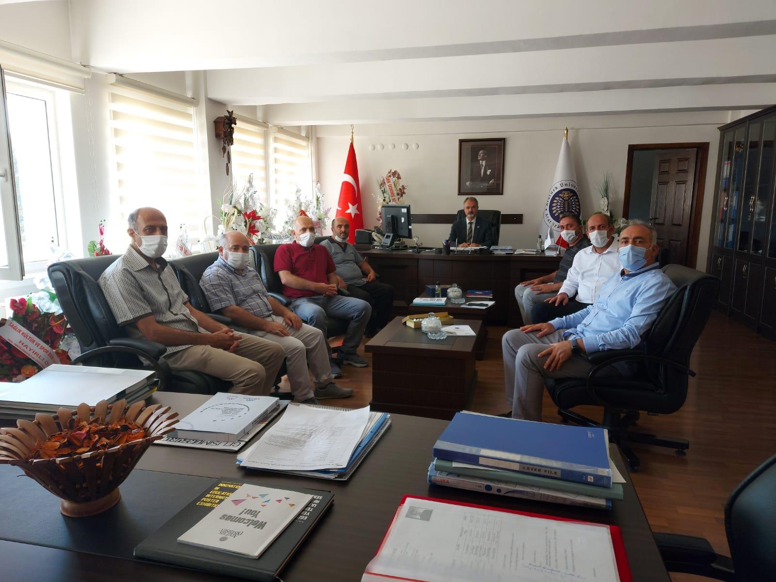 Atatürk Üniversitesi Yönetimine Ziyaret